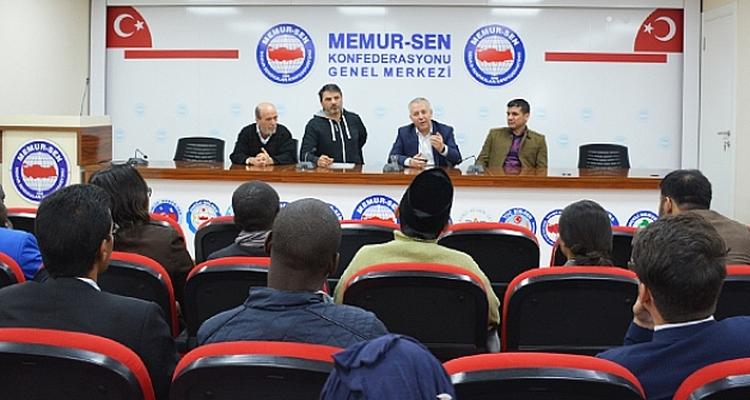 Visite des participants à la formation en Syndicalisme International et Politiques Sociales