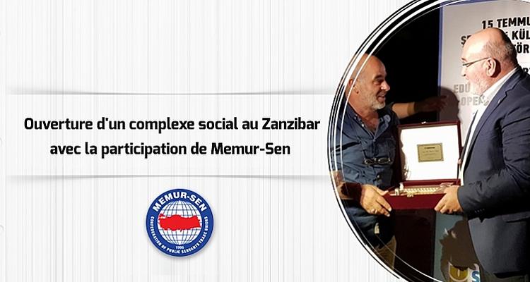 Ouverture d`un complexe social des martyrs au Zanzibar avec la participation de Memur-Sen